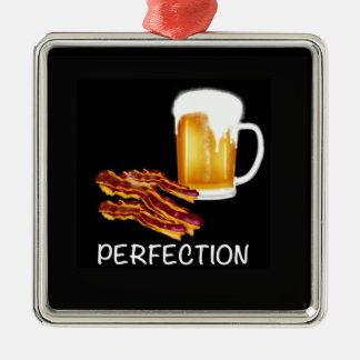 Best Beer and Bacon gifts and accessories ever! Silver-Colored Square Decoration