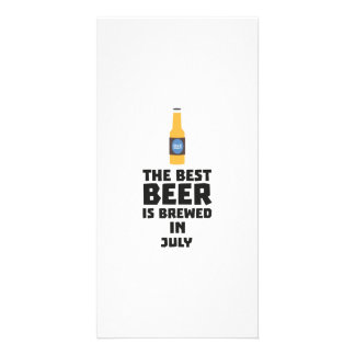 Best Beer is brewed in July Z4kf3 Picture Card