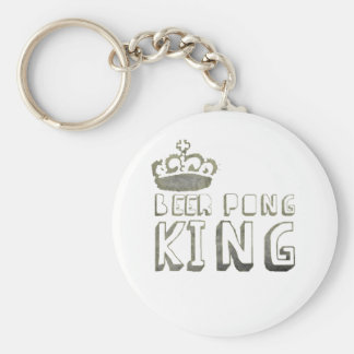 Best Beer Pong King Key Chains