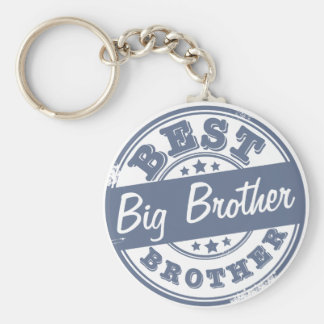 Best Big Brother - rubber stamp effect - Basic Round Button Key Ring