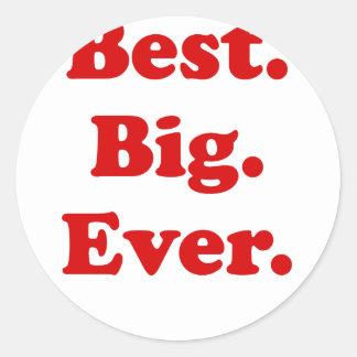Best Big Ever Round Sticker