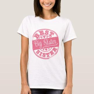 Best Big Sister -rubber stamp effect- T-Shirt