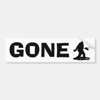 BEST Bobo Gone Squatchin, Finding Bigfoot Squatchy Bumper Sticker