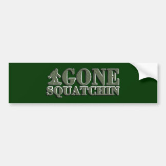 BEST Bobo Gone Squatchin, Finding Bigfoot Squatchy Bumper Sticker