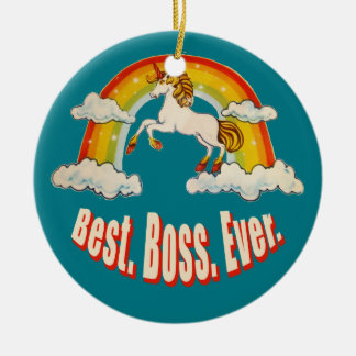 Best Boss Ever Christmas Ornament