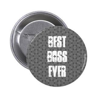 Best Boss Ever Modern Silver Star Pattern 6 Cm Round Badge