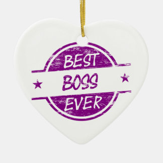 Best Boss Ever Purple Christmas Ornament