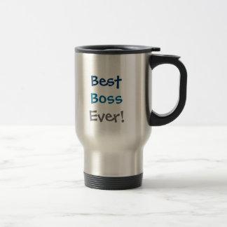best boss ever! stainless steel travel mug