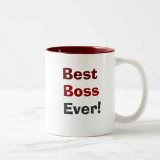 Best Boss Ever! Two-Tone Mug