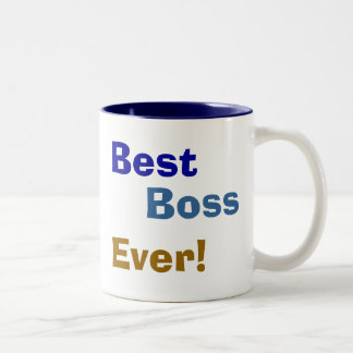Best , Boss, Ever! Two-Tone Mug