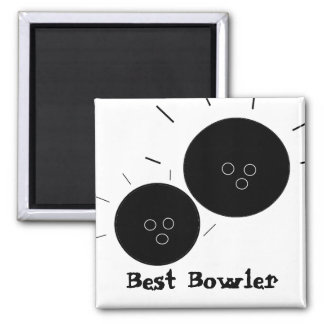 Best Bowler Square Magnet