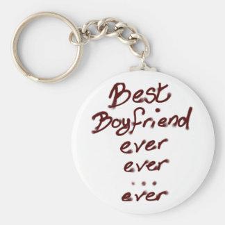 Best boyfriend ever basic round button key ring