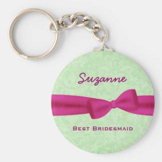 Best Bridesmaid Custom Name Printed Bow Gift V02 Key Ring