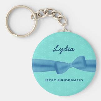 Best Bridesmaid Custom Name Printed Bow Gift V28 Key Ring