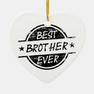 Best Brother Ever Black Christmas Ornament