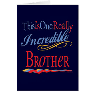 Best Brother Gifts Greeting Card
