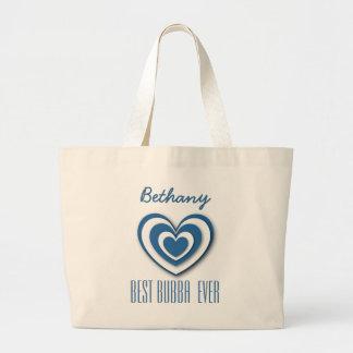 Best Bubba Custom Name 3D Look Layered Hearts V06 Bag