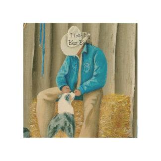 """Best Buddies"" Painting by Barbara A Applegate Wood Print"