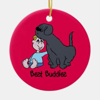 Best Buddies Round Ceramic Decoration