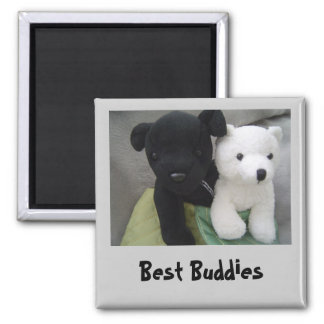 Best Buddies Square Magnet