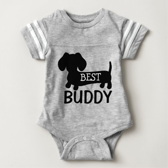 Best Buddy Dachshund One Piece Baby Outfit Baby