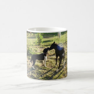 """Best Buds"" Mule and Dog on Classic Mug"