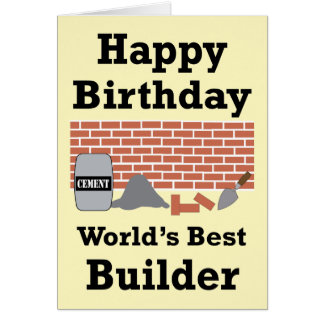 Best Builder Happy Birthday Card