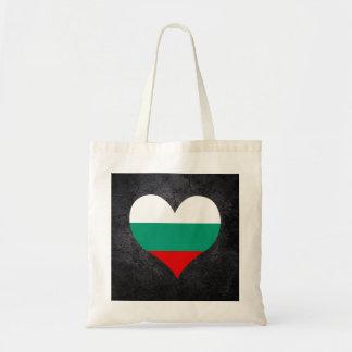 Best Bulgarian Heart flag Budget Tote Bag
