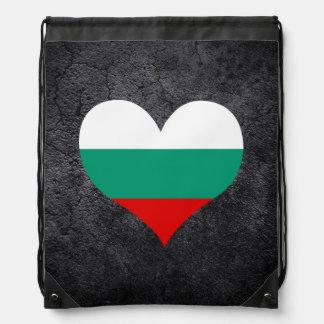 Best Bulgarian Heart flag Drawstring Bag