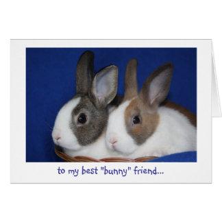 "best ""bunny"" friend Easter Card"