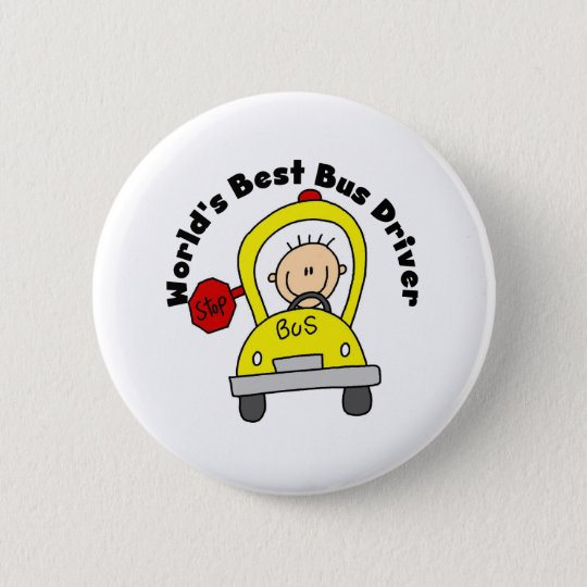 Best Bus Driver 6 Cm Round Badge