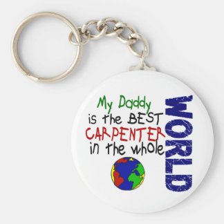 Best Carpenter In World 2 (Daddy) Basic Round Button Key Ring