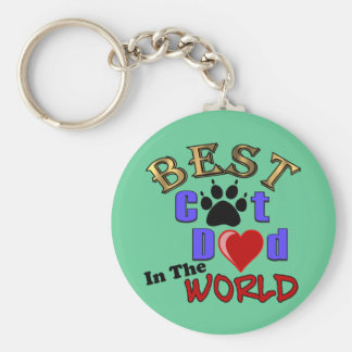 Best Cat Dad In The World for Father s Day Key Chains