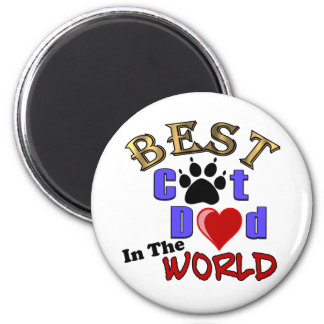 Best Cat Dad In The World for Father s Day Fridge Magnet