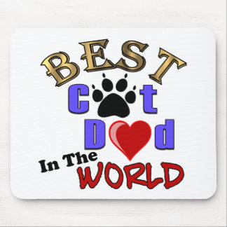 Best Cat Dad In The World for Father s Day Mousepads