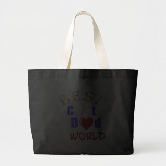Best Cat Dad In The World for Father's Day Tote Bag