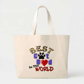 Best Cat Dad In The World for Father's Day Canvas Bags