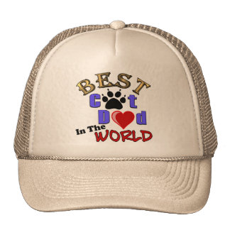 Best Cat Dad In The World for Father's Day Mesh Hat