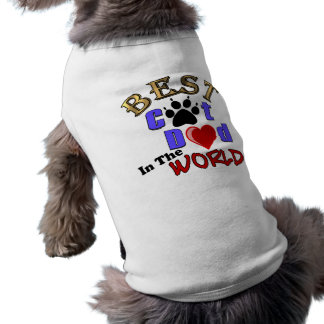 Best Cat Dad In The World for Father's Day Doggie Tee Shirt