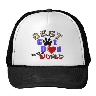 Best Cat Dad In The World for Father's Day Trucker Hats