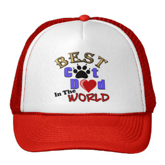 Best Cat Dad In The World for Father's Day Hats