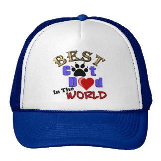 Best Cat Dad In The World for Father's Day Hat