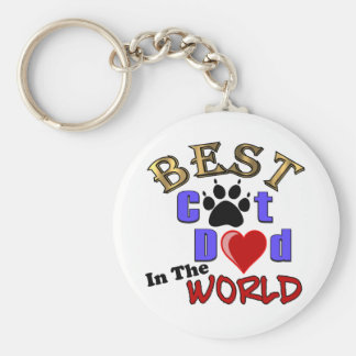 Best Cat Dad In The World for Father's Day Key Chain