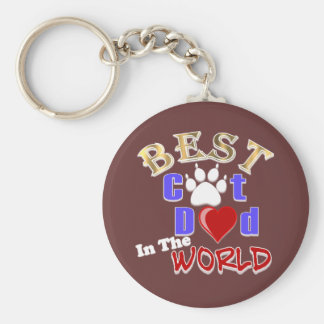 Best Cat Dad In The World for Father's Day Key Chains