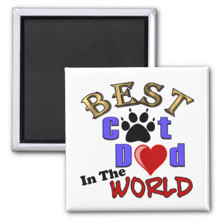 Best Cat Dad In The World for Father's Day Refrigerator Magnet