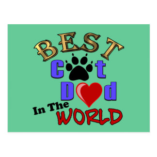 Best Cat Dad in the World Gifts Postcards