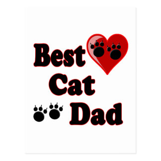 Best Cat Dad Merchandise for Father's Postcard
