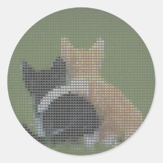 Best cat forever round sticker