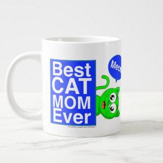BEST CAT MOM EVER - PLANET PEEKABOO FEATURING LYNX LARGE COFFEE MUG