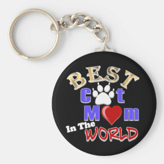 Best Cat Mom In The World Gifts for Mother s Day Keychains